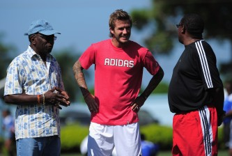 David Beckham Coaching Clinic In Trinidad