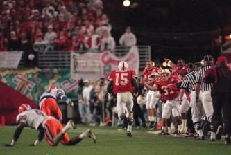 Nebraska QB Tommie Frazier, 1996 Fiesta Bowl