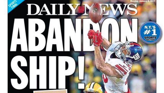 Of course the New York tabloids went with the boat puns