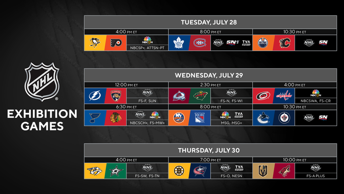 Rogers Sportsnet Is Barely Televising The Nhl S Exhibition Games This Week