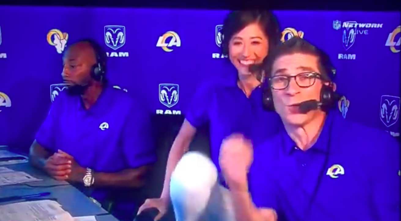 Mina Kimes laughs off awkward NFL broadcasting moment during Rams-Chargers  game